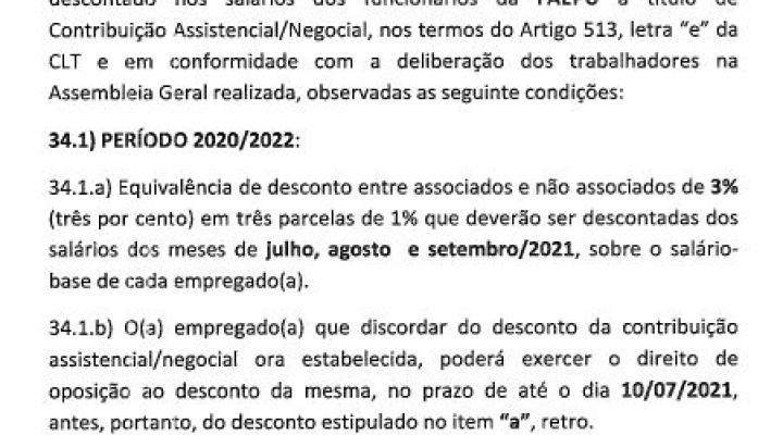 Contribuição Assistencial/Negocial